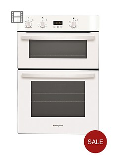 hotpoint-dh53ws-electric-built-in-double-oven-white