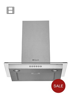 hotpoint-newstyle-hdf65sab-60cm-chimney-cooker-hood-stainless-steel