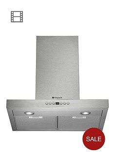 hotpoint-hhb67ad-60cm-chimney-built-in-cooker-hood-stainless-steel