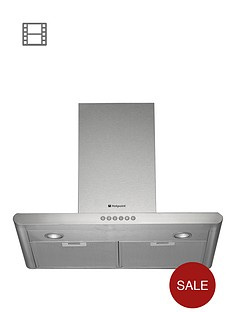 hotpoint-hhc67ab-60cm-chimney-built-in-cooker-hood-stainless-steel