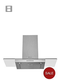 hotpoint-hdf95sab-90cm-chimney-built-in-cooker-hood-stainless-steel
