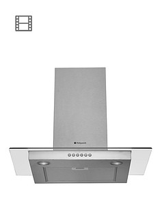 hotpoint-hdf75sab-70cm-chimney-built-in-cooker-hood-stainless-steel