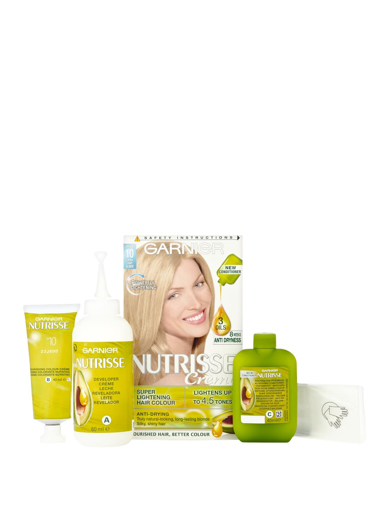 Nutrisse Permanent Hair Colour - Extra Light Natural Blonde 10A at Littlewoods