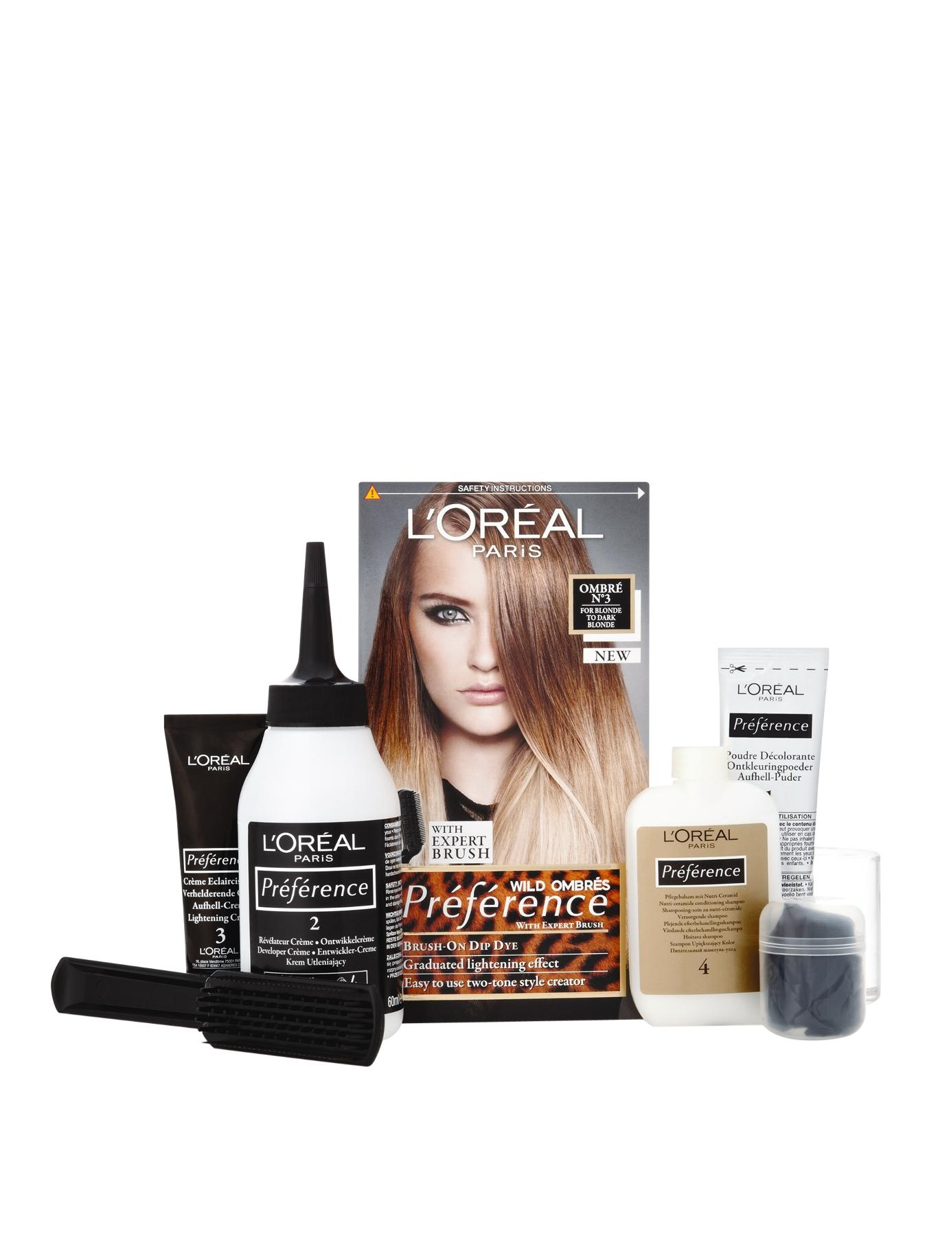 Loreal Preference Wild Ombre Dip Dye Hair Kit No3 Blonde To Dark