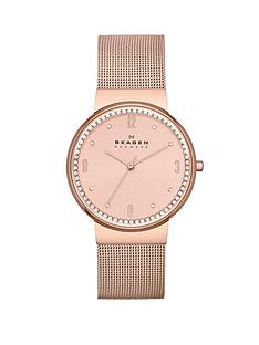skagen-klassik-three-hand-rose-gold-tone-ladies-watch