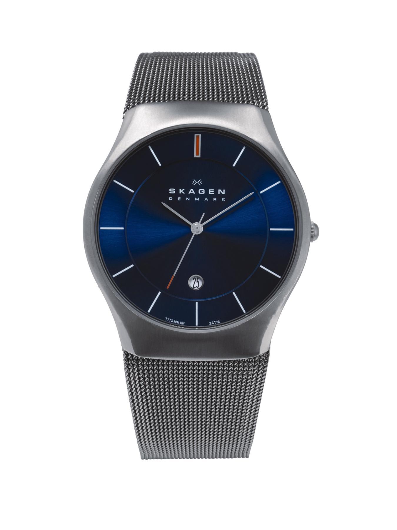 Aktiv Titatium Blue Dial Mens Watch
