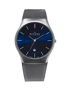 skagen-aktiv-titatium-blue-dial-mens-watch