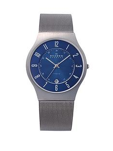 skagen-klassik-blue-dial-mesh-mens-watch