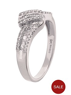 love-diamond-9-carat-white-gold-33-point-diamond-baguette-and-brilliant-cut-cluster-ring