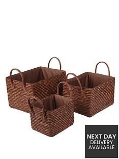 metallic-wheatstraw-storage-baskets-set-of-3