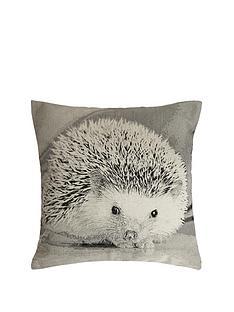 hedgehog-printed-cushion