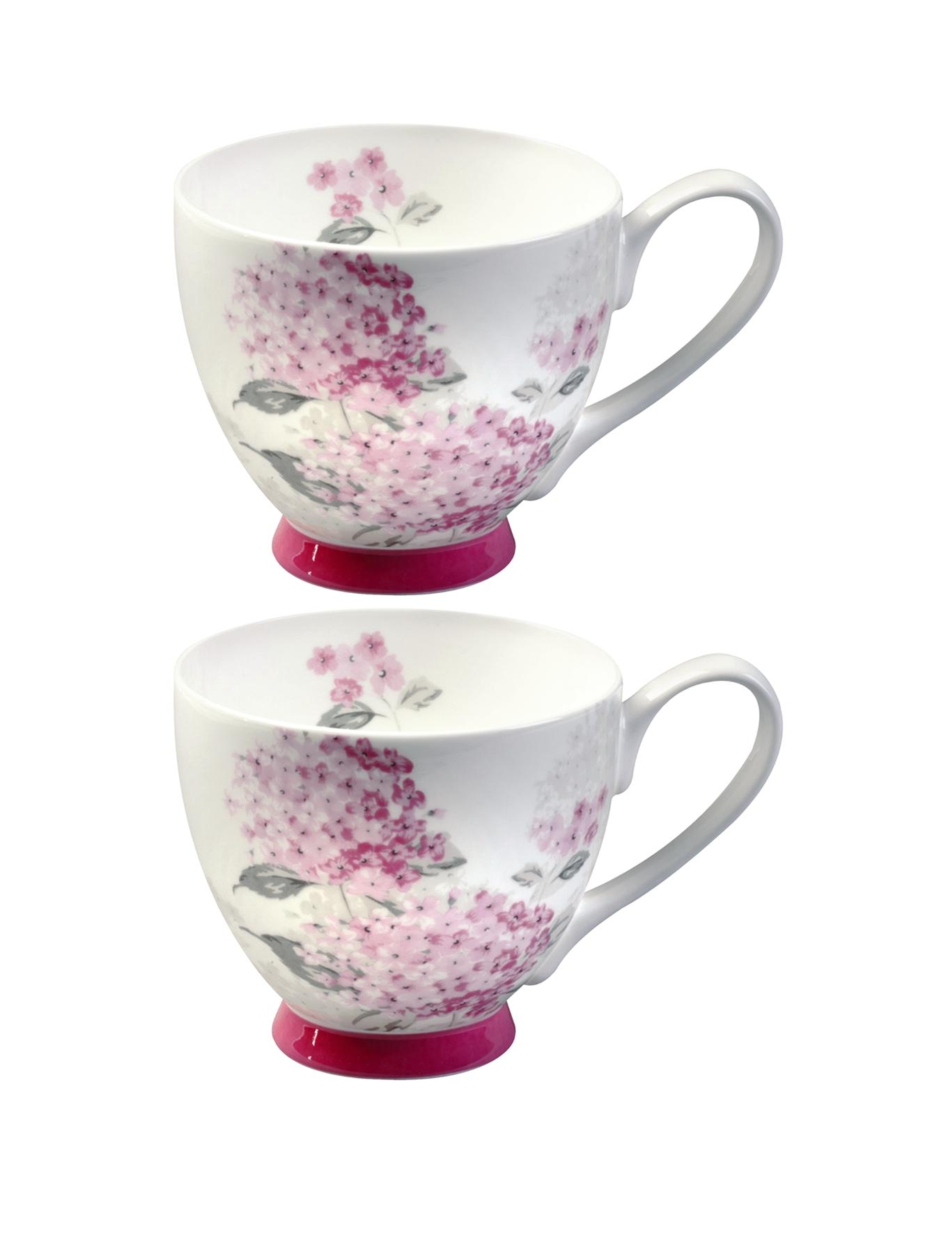 Ami Pink Footed Mugs (Set of 2)