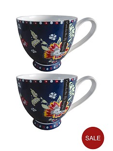 boho-footed-mugs-set-of-2-multi