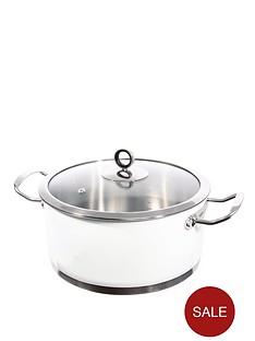 morphy-richards-24cm-casserole-pan-white
