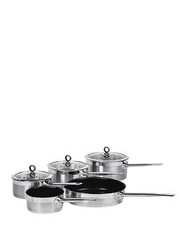 morphy-richards-5-piece-pan-set-stainless-steel