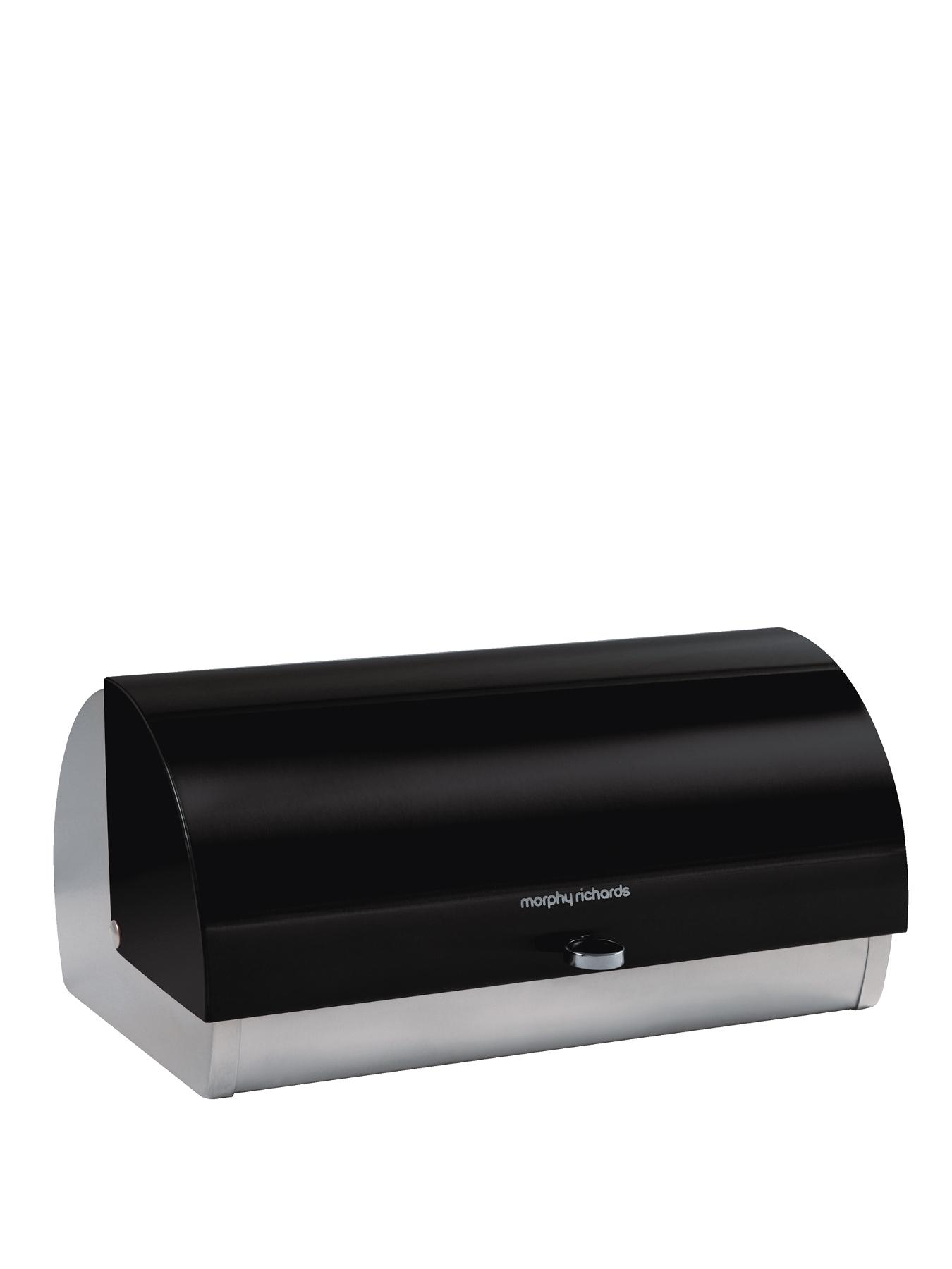 Roll Top Bread Bin - Black