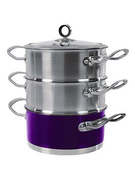 morphy-richards-18-cm-3-tier-steamer-purple