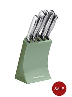 morphy-richards-knife-block-5-piece-sage