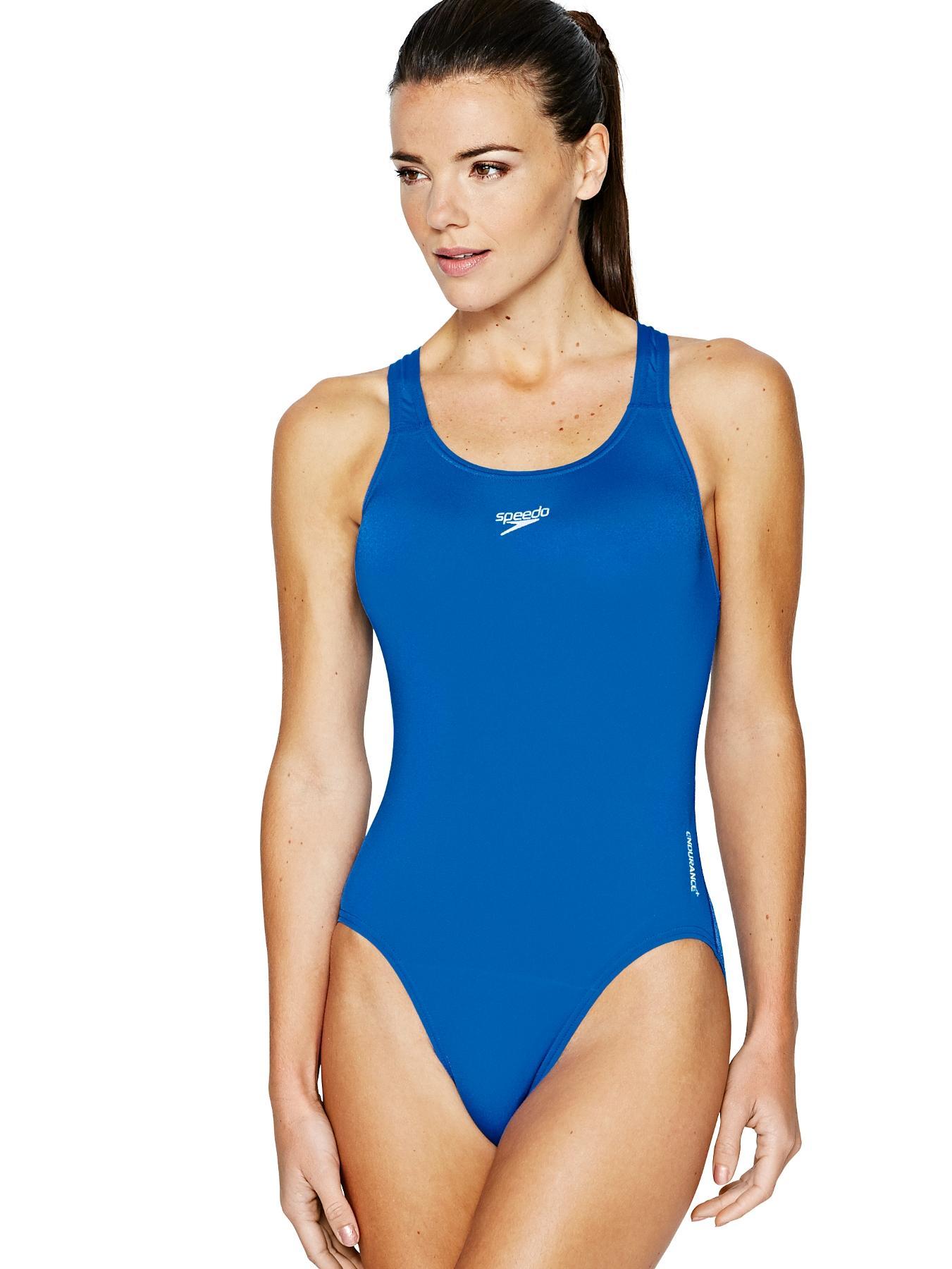 Essential Endurance+ Medalist Swimsuit, Blue,Black