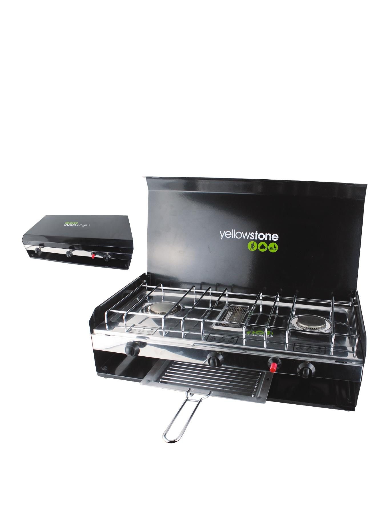 Double Burner With Grill And Lid