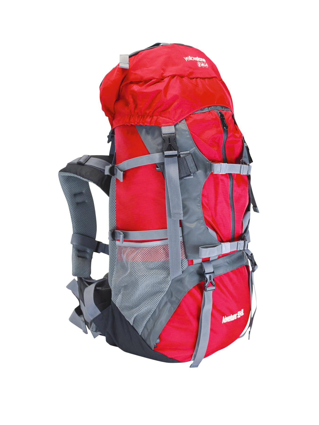 Adventurer 55 + 5-Litre Ruck Sack - Red/Grey