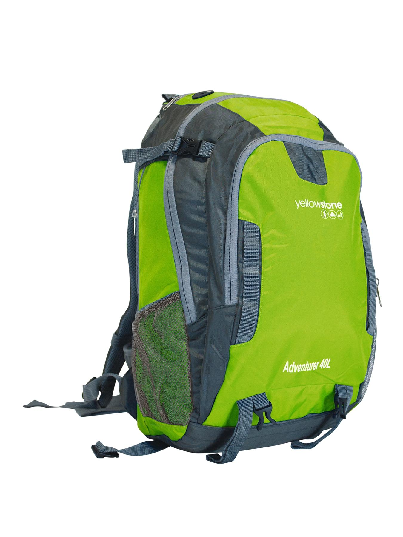 Adventure 40-Litre Ruck Sack - Green/Grey