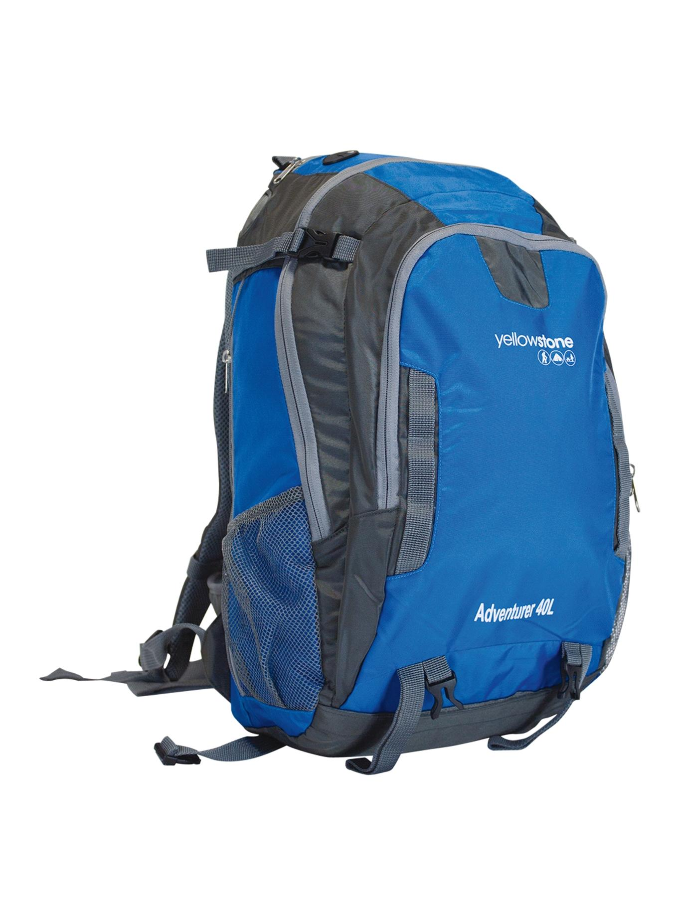 Adventure 40-Litre Ruck Sack - Blue/Grey
