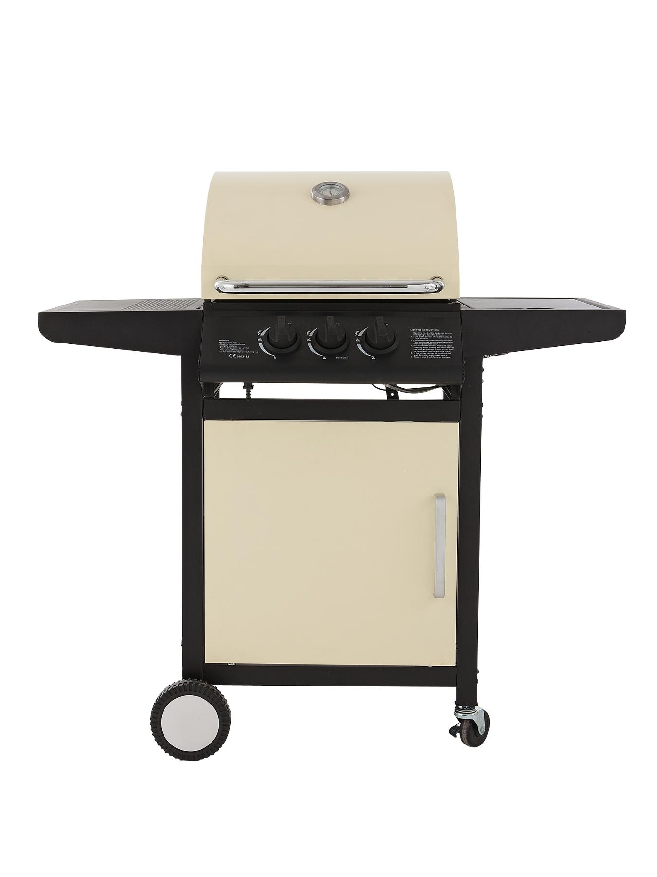 2 Burner Gas BBQ plus Side Burner