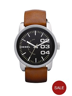 diesel-franchise-tan-leather-strap-mens-watch
