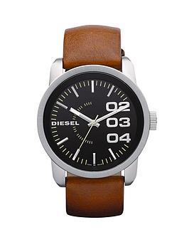 diesel-franchise-tan-leather-strap-mens-watch