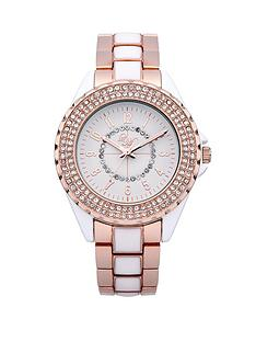 little-mistress-stone-set-bezel-with-rose-gold-and-white-bracelet-ladies-watch
