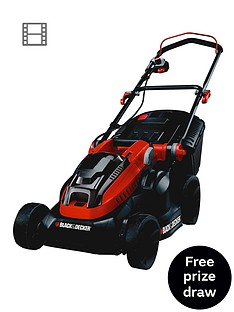 black-decker-clm3820l2-gb-36-volt-lithium-ion-cordless-mower-with-2-batteries-free-prize-draw-entry