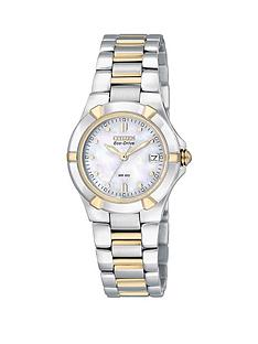 citizen-eco-drive-wr100-gold-plated-and-stainless-steel-bracelet-ladies-watch