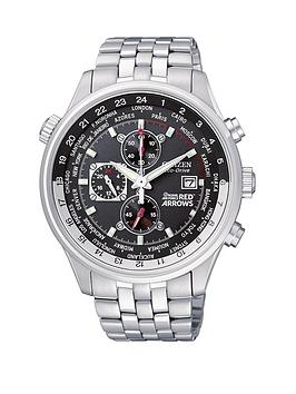 citizen eco drive red arrows chronograph world time bracelet mens citizen eco drive red arrows chronograph world time bracelet mens watch littlewoods com