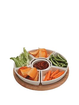 apollo-rubber-wood-lazy-susan-with-ceramic-dishes