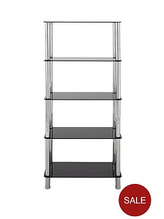 ramone-5-tier-glass-and-steel-shelving-unit