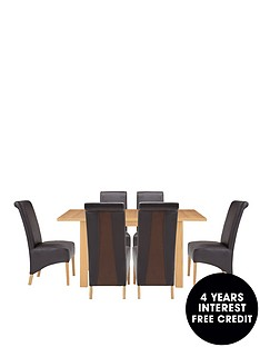 primo-120-150-cm-extending-dining-table-6-sienna-chairs-buy-and-save