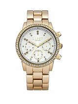 White Dial and Gold Tone Bracelet Ladies Watch