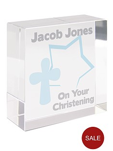 personalised-christening-glass-block