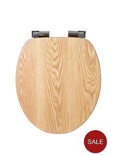 croydex-fitzroy-solid-oak-toilet-seat
