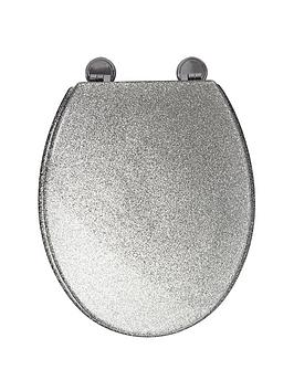 croydex-silver-glitter-toilet-seat