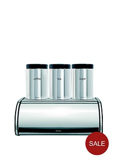 brabantia-roll-top-bread-bin-and-tea-coffee-sugar-canister-set