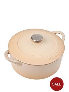 denby-barley-cast-iron-24cm-round-cassserole-dish