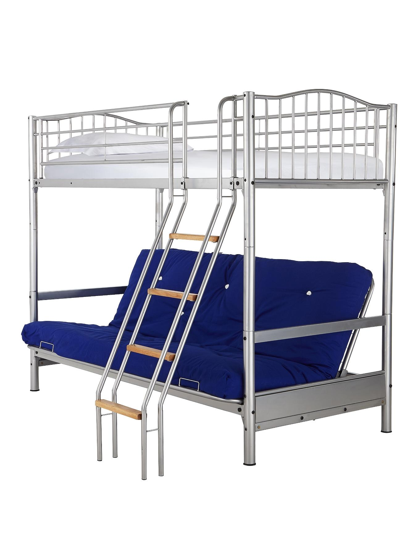 Alaska Futon Metal Bunk Bed GreenBlackPinkBlue
