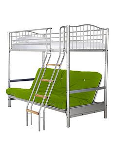 kidspace-alaska-futon-bunk-with-single-mattress