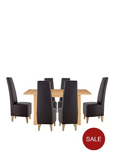 primo-120-150-cm-extending-dining-table-6-manhattan-chairs-buy-and-save