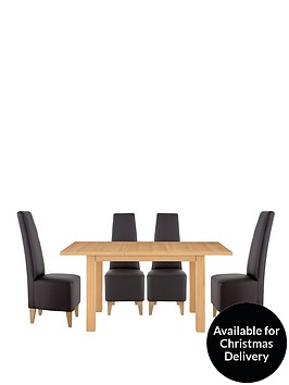 primo-120-150-cm-extending-dining-table-4-manhattan-chairs-buy-and-save