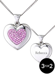 keepsafe-sterling-silver-pink-crystal-personalised-pendant