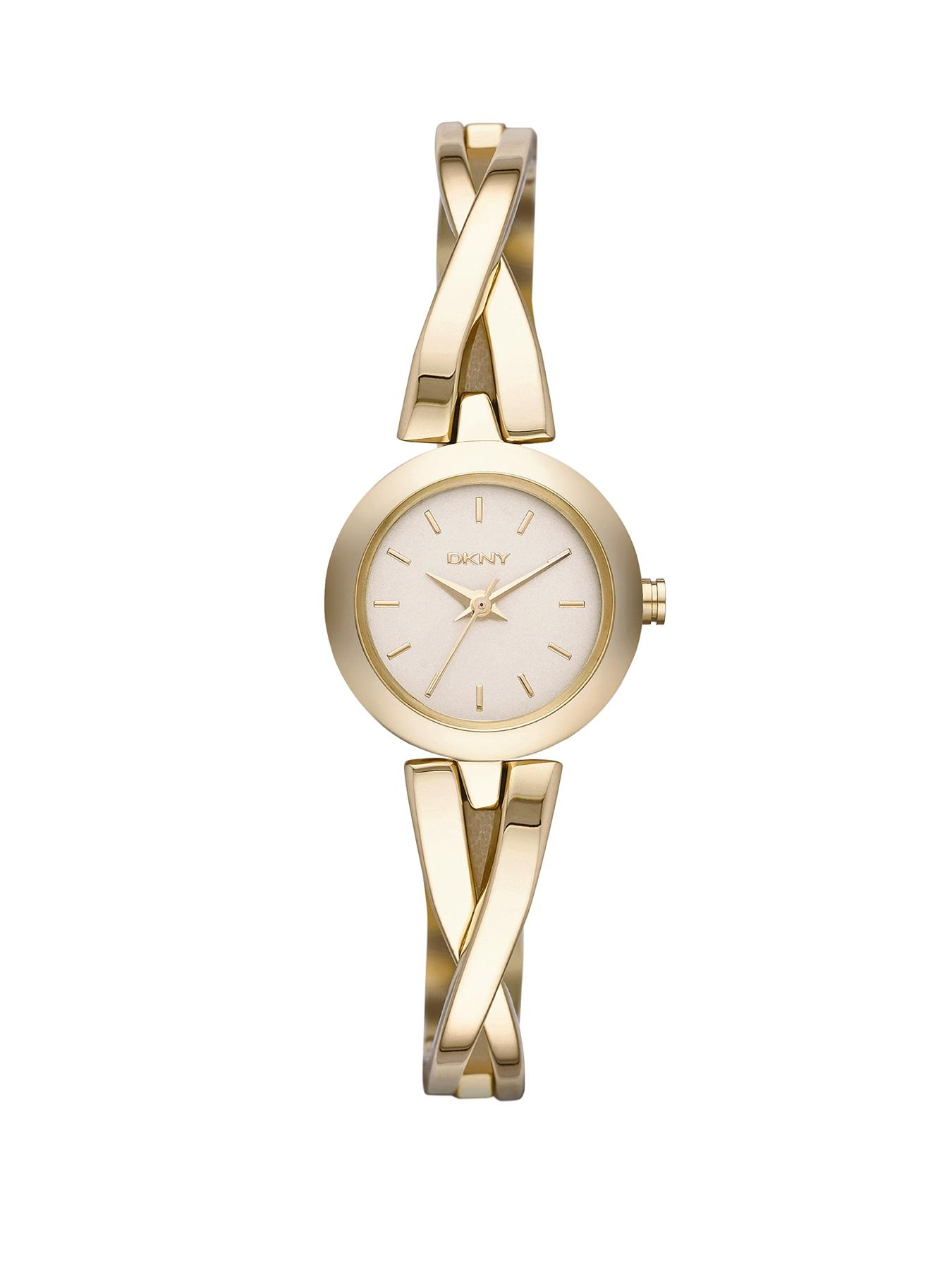 Crosswalk Champagne Dial Gold-Tone Ladies Watch