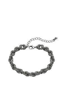 fiorelli-silver-coloured-rope-chain-bracelet